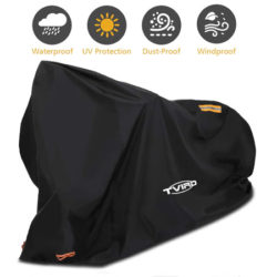 Cubierta impermeable para bicicletas 200x110x70cm, tela oxford 210D por 11,99€.