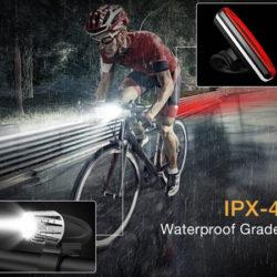 Foco de luz delantero y posicionamiento trasera para bicis, impermeables por 12,30€ antes 41€.