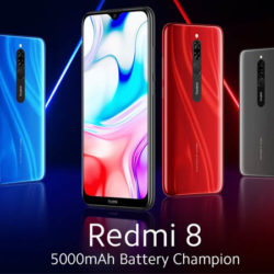Nuevo Xiaomi Redmi 8 con batería de 5.000 mAh 3/32GB por 96,59€ y 4/64GB por 109,34€.