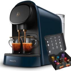 170 cápsulas de Café Espresso L'OR y cafetera doble Philips L'OR Barista por 57,63€, antes 156 euros. Y pack con 340 cápsulas y cafetera por 81,77€. Además registrándola recibirás un cupón de 20 euros.
