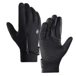 Guantes deportivos para ciclismo o runners, impermeables y calentitos, compatibles con pantallas táctiles por 8,05€ antes 22,99€.