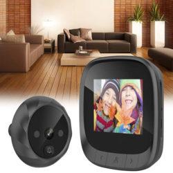 Mirilla infrarroja digital Owsoo con visión nocturna, toma de fotos por 19,99€ antes 29,99€.