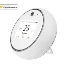 Monitor inteligente wifi Koogeek A1WEU para medir la calidad del aire en interiores, la temperatura y humedad, despertador, luz nocturna led y detector de movimiento, compatible con Apple HomeKit por 19,99€ antes 119,99€.