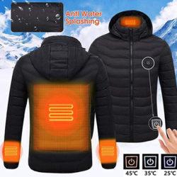 Chaqueta eléctrica con calefacción en zona lumbar, muñecas y cuello por 34,99€ con código.