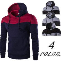 Sudadera con capucha Yenjos para hombre disponible en cuatro modelos por 11,39€ con código descuento.