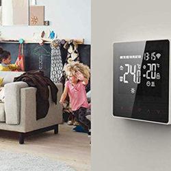 Termostato inteligente wifi, App, control de temperatura ambiente y de piso por 30,79€ con código, antes 43,99€.