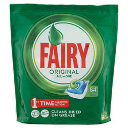84 Cápsulas de lavavajillas Fairy All In One por sólo 8,62€