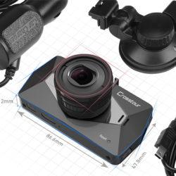 Dashcam Crosstour, Full HD 1080P/HDR, visión nocturna, G-Sensor (detección de movimiento) por 29,99€ con código, antes 49,999€.