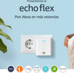 Amplia las posibilidades de cobertura de Echo con Echo Flex por 19,99€.
