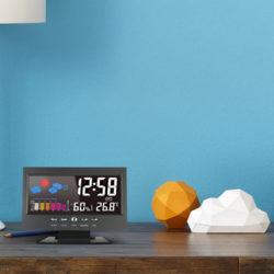 Reloj con medidor de humedad, temperatura y pronóstico del tiempo por 6,99€ con código.