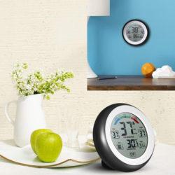 Docooler termómetro/higrómetro digital para interiores con iman para fijar a metales por 4,99€.