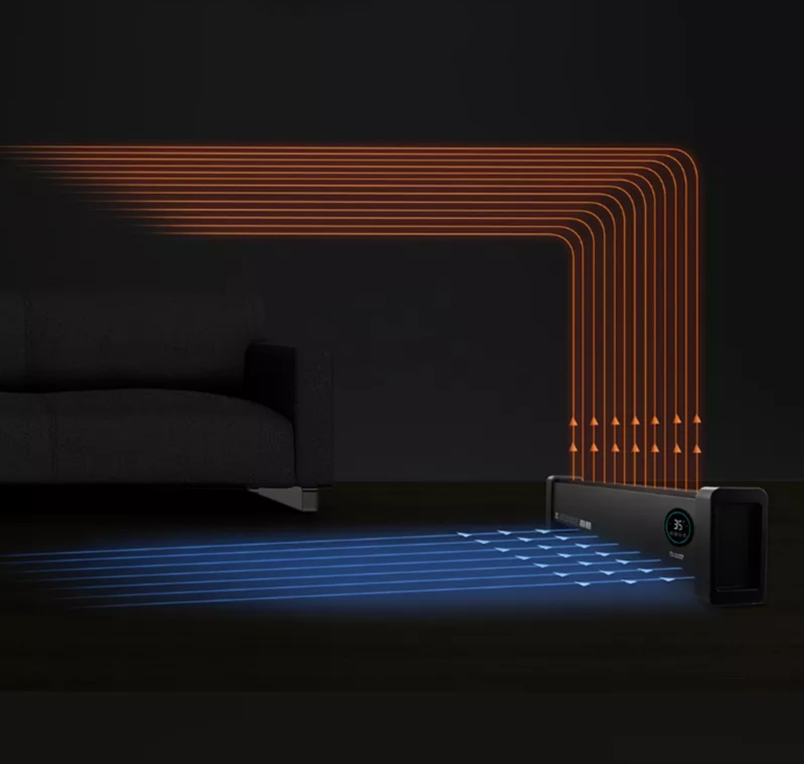 Radiador De Placa Viomi Internet Baseboard Electric Heater