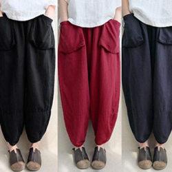 Pantalones anchos de lino/algodón Romacci por 8,99€ con código.