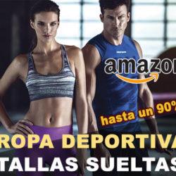 Tallas sueltas en moda deportiva de Amazon con descuentos de hasta un 76%