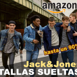 Especial tallas sueltas de moda con descuentos de hasta un 90% en Amazon: Jack and Jones