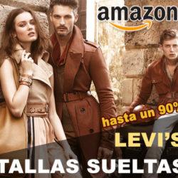 Especial tallas sueltas de moda con descuentos de hasta un 90% en Amazon: Levi's.