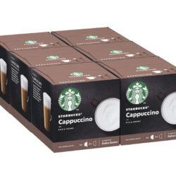 6 Cajas de cápsulas Starbucks Cappuccino compatibles con Nescafe Dolce Gusto (6x6+6) por 20,60€.