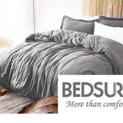Funda de edredón, juego de sábanas y manta reversible Bedsure con códigos de descuento.