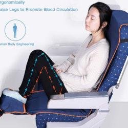 Hamaca reposapies ajustable para viajes en avión o tren por 12,94€.