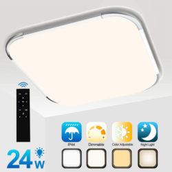 Plafón LED 24W equivalente a 150W, 1920 lúmenes, IP44 con mando por 27,85€ antes 39,79€, resto de modelos descuento del 40%.