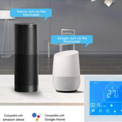 Termostato inteligente wifi, App, control de temperatura ambiente y de piso, compatible con Alexa y Google Home por 21,99€ antes 36,99€.