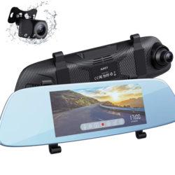 """Mirror Dash Cam Aukey DRA2, espejo con pantalla táctil LCD de 6,8"""", cámaras frontal 1080p y trasera 20p, G-Sensor, modo de aparcamiento y detección de movimiento por 39,99€ antes 79,99€."""
