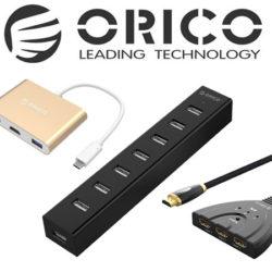 Códigos descuento en productos de conectividad Orico.