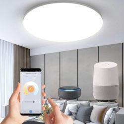 Plafón de techo inteligente WiFi, 24W,Ip20 compatible con Alexa, Google Home por 14,99€ antes 29,99€.