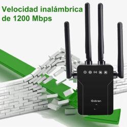 Extensor de red wifi doble banda Gobran 2.4/5GHz,1200Mbps por 16,99€ antes 33,99€.