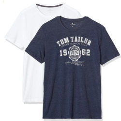 Lote de 2 camisetas de Tom Tailor Doppelpack Basic para hombre desde sólo 6,72€.