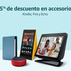 25% de descuento en accesorios para Kindle, Echo y Fire con código.