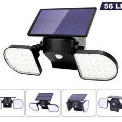 Focos dobles solares orientables 360º e impermeables (IP65), batería 220mAh con sensor de encendido e infrarrojo por 16,79€ antes 23,99€.