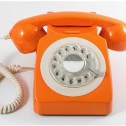 Teléfono vintage GPO 746 1970´s Landline Rotary Hotel naranja por 38,62€ antes 75,48€