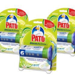 3 Envases de Pato WC Discos Activos Lima con aplicador y recambio por sólo 4,17€.