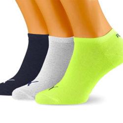 3 Pares de calcetines tobilleros Puma Unisex Sneaker Plain por sólo 4,99€.