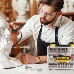 Maletín de accesorios para herramientas rotativas, 313 piezas por 12,49€ antes 24,99€.