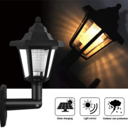 Farol led con panel solar, IP65 por 7,99€.