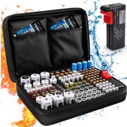 Estuche con gran capacidad para almacenar pilas de todo tipo+comprobador digital de baterías por 15,99€ antes 21,99€.