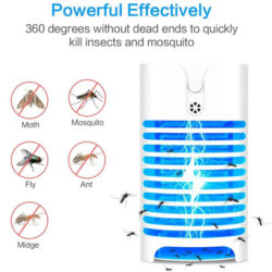 Lámpara led fríe mosquitos, con dos modos de luz (fijo y con sensor de luz) por 6,99€.