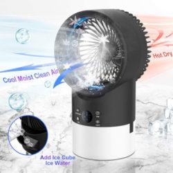 Mini climatizador 4 en 1: enfriador, humificador, purificador y ventilador por 38,69€.
