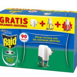 Difusor antimosquitos Raid Aroma Eucalipto con difusor y dos recambios por 4,54€.
