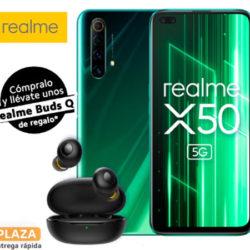 "Realme X50, 5G, , 6.77"", 6/64GB, 4200mAh con carga ultra rápida Dart de 30W por 196€"
