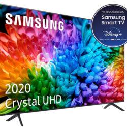 """Smarttv Samsung Crystal UHD 2020 75TU7105, 75"""", 4K/ HDR 10+, One Remote Control, compatible asistentes de voz por 689,93€ y recibe un cupón de 90 euros."""