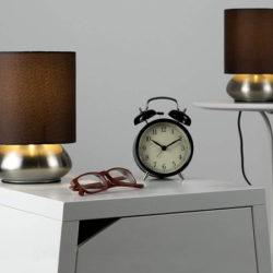 Descuento automático: Dos lámparas de noche táctiles con regulador de intensidad por sólo 7 euros. Descuento de un 75%.