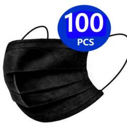 100 Mascarillas higiénicas negras desechables por sólo 6,94€.