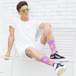 12 calcetines de algodón peinado Wecibor con varios estampados (hasta 30 packs entre los que elegir) por 11,49€.