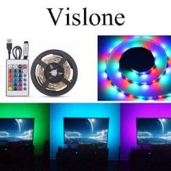 Tira de luz Led RGB, 16 tonalidades, 4 modos de iluminación, IP65 por 5,99€.