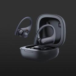 Auriculares deportivos TWS EP-T32 , BT 5.0, con micros CVC 8.0, AptX y AAC, sensores de proximidad, IPX8, estuche compatible con carga Qi por 19,99€ antes 39,99€.