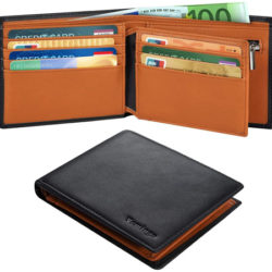 Billetera con protección electromagnética RFID en varios colores por sólo 13,85€.