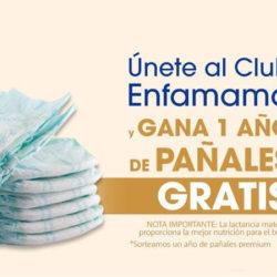 ¿Vas a ser madre? Únete al Club ENFAMAMÁ y gana 1 año de pañales gratis.